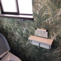 【愛知県知多市リフォーム工事】トイレ改修 床クロス貼替