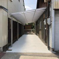 【名古屋市中川区リフォーム工事】車庫改修、フェンス取付